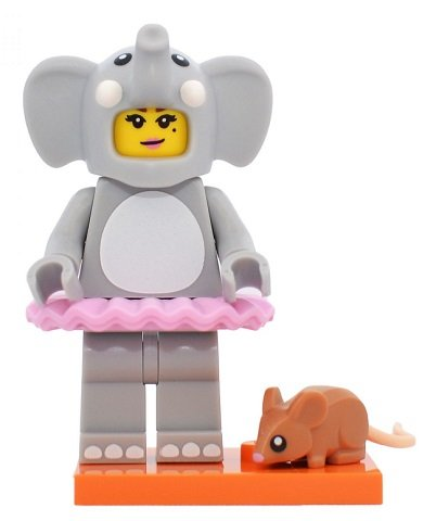 Lego Elephant Costume Girl w// Mouse Minifigure Series 18 Party